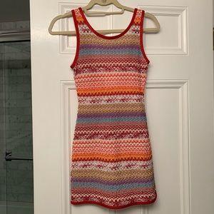 MISSONI DRESS Body-con Patterned Designer Dress